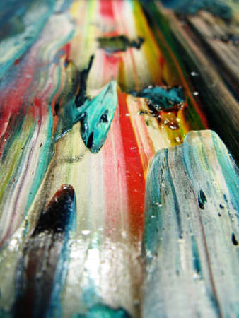 Oil painted abstract colors games. photo