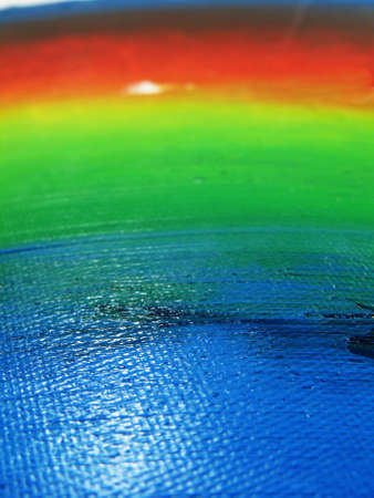 Oil Painted rainbow prospective on canvas. Stock Photo - 8031024