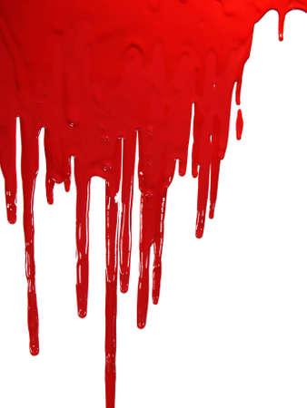 drippings: Pintar de rojo blooding en blanco  Foto de archivo