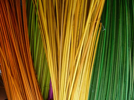 Colorful material for making artcrafts, raffia, natural raw material
