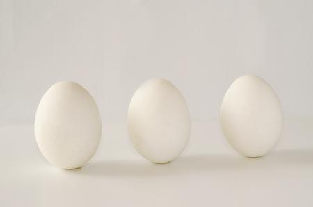 White eggs on a white background. Stock fotó
