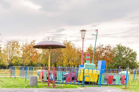 Autumn cityscapes as well as children's parks on an autumn day.