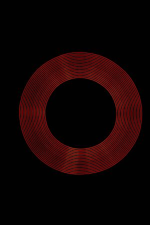 stock photography: Red Light Ring created using Light Painting.