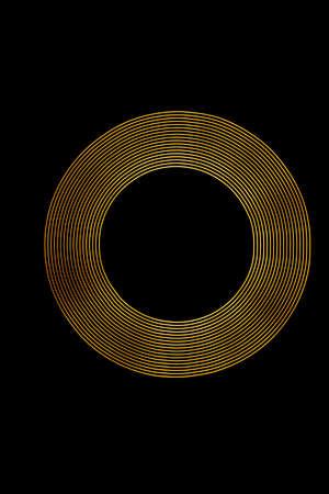 stock photography: Gold Light Ring created using Light Painting.