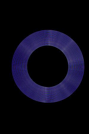 Purple Light Ring created using Light Painting.