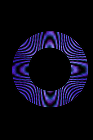 stock photography: Purple Light Ring created using Light Painting.