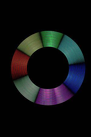leds: Pintura de luz anillo de luz multicolor