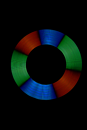 light painting: Light Painting Multicolor Light Ring