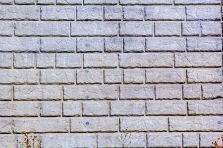 retaining: The stone pattern of a brick retaining wall