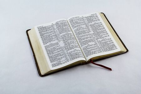 king james: Open King James bible on a white background