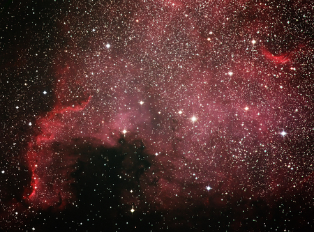 astrophoto: The North America Nebula NGC 7000 is an emission nebula in the constellation Cygnus, close to Deneb the tail of the swan and its brightest star.