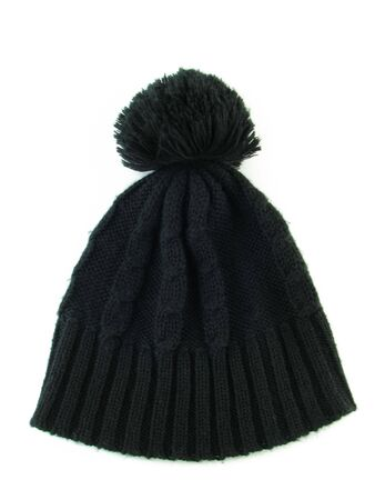 Winter Cap with a pompon photo