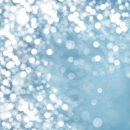 bokeh: Lights on blue background