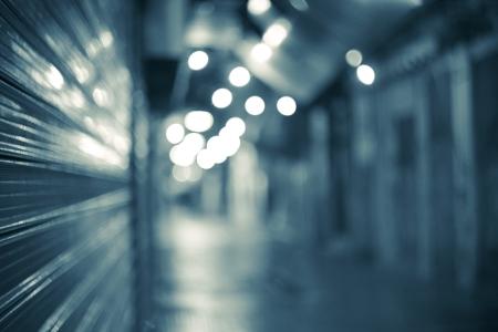 Światła: Tunel do innego życia, niebieskie tło Zdjęcie Seryjne