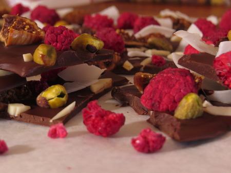 freeze dried: chocolate bark Stock Photo