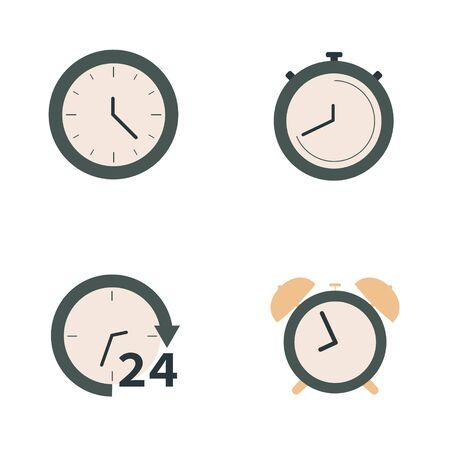 Clock Icon Set Illusztráció