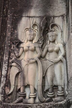 apsara: Apsara dancer stone on at Angkor Wat,Siem Reap. Cambodia
