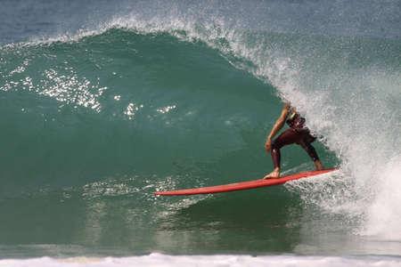 nice barrel in longboard photo