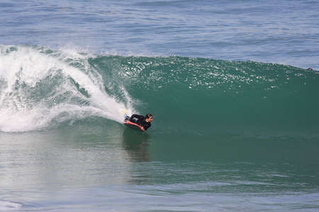 bodyboard: bodyboarder on powerful wave Stock Photo