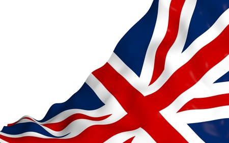 Waving flag of the Great Britain. British flag. United Kingdom of Great Britain and Northern Ireland. State symbol of the UK