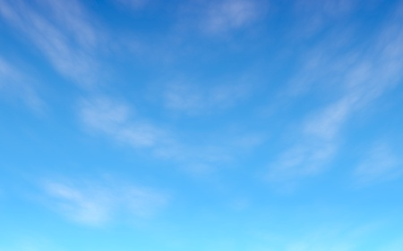 Blue sky background with white clouds. Cumulus white clouds in the clear blue sky in the morning. 3D illustration Reklamní fotografie