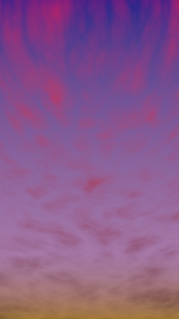Cumulus pink clouds in the purple sky at sunset. Abstract group of clouds in the evening. 3D illustration Reklamní fotografie