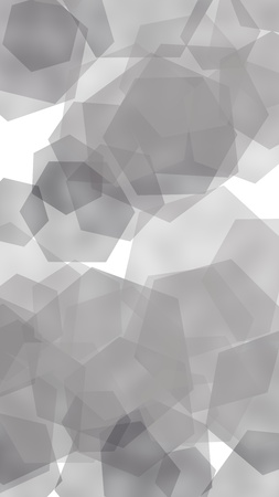 Gray translucent hexagons on white background. Vertical image orientation. 3D illustration Stok Fotoğraf