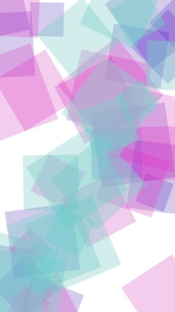 Multicolored translucent hexagons on white background. Vertical image orientation. 3D illustration