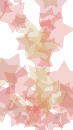 Multicolored translucent stars on a white background. Vertical image orientation. 3D illustration
