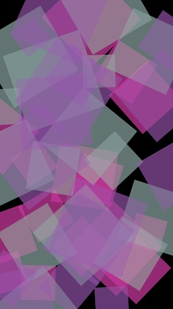 Multicolored translucent hexagons on dark background. Vertical image orientation. 3D illustration