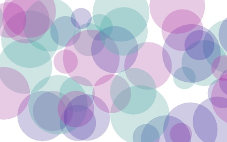 Multicolored translucent circles on a white background. Pink tones. 3D illustration Stock fotó