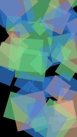 Multicolored translucent hexagons on dark background. Vertical image orientation. 3D illustration Stok Fotoğraf - 122498575