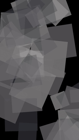 Gray translucent hexagons on dark background. Vertical image orientation. 3D illustration Stok Fotoğraf