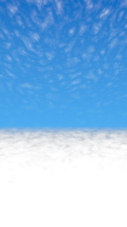 Blue sky background with white clouds. Cumulus white clouds in the clear blue sky in the morning. 3D illustration Stock fotó