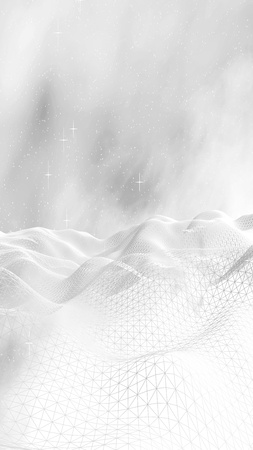 White abstract background. Hi tech network.Outer space. Starry outer space texture. 3D illustration Фото со стока - 122498488