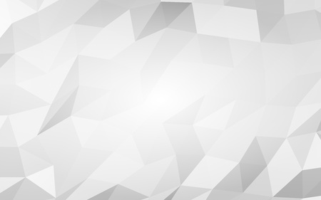 White abstract background. Lowpoly backdrop. Crumpled paper. 3D illustration Фото со стока - 122570055