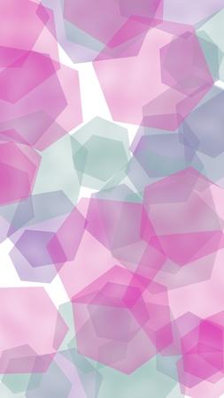 Multicolored translucent hexagons on white background. Vertical image orientation. 3D illustration Stok Fotoğraf - 123399423