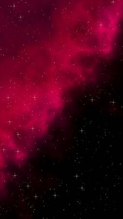Colorful and beautiful space background. Outer space. Starry outer space texture. Templates, red background Design of websites, mobile devices and applications. 3D illustration Stock Photo