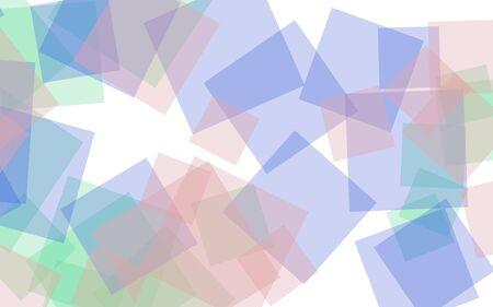 Multicolored translucent squares on white background. Pink tones. 3D illustration Reklamní fotografie
