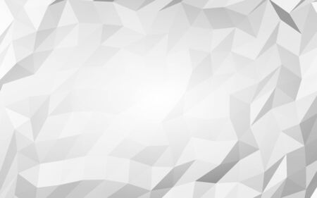 White abstract background. Lowpoly backdrop. Crumpled paper. 3D illustration