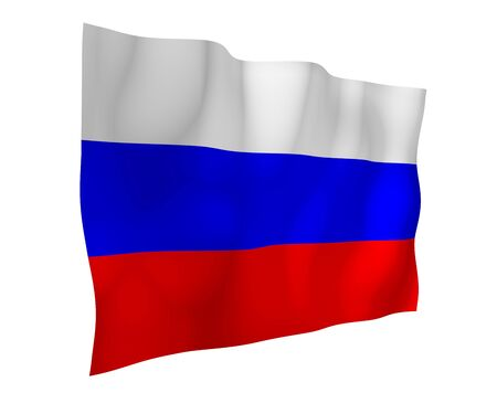Waving flag of the Russian Federation. The National. State symbol of the Russia. 3D illustration 写真素材