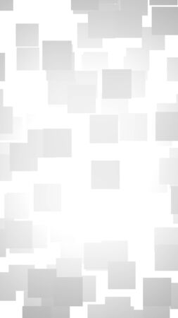 White abstract background. Misty backdrop with grey squares. 3D illustration