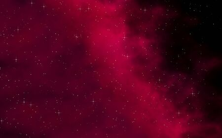 Colorful and beautiful space background. Outer space. Starry outer space texture. Templates, red background. 3D illustration Stok Fotoğraf