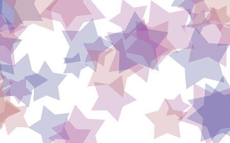 Gray translucent stars on a white background. Gray tones. 3D illustration