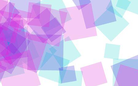 Multicolored translucent squares on white background. Red tones. 3D illustration Stok Fotoğraf
