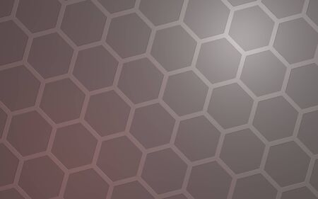 Honeycomb with color lighting, on a gray background. Perspective view on polygon look like honeycomb. Isometric geometry. 3D illustration Фото со стока