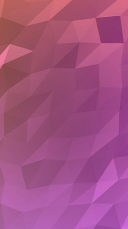 Abstract triangle geometrical pink background. Geometric origami style with gradient. 3D illustration