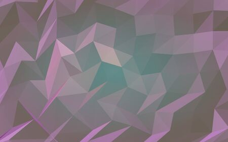 Abstract triangle geometrical violet background. Geometric origami style with gradient. 3D illustration Stok Fotoğraf