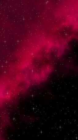 Colorful and beautiful space background. Outer space. Starry outer space texture. Templates, red background Design of websites, mobile devices and applications. 3D illustration Stock fotó