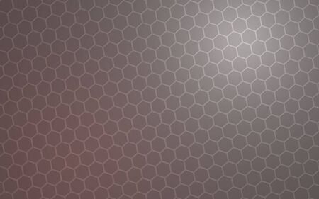 Honeycomb with color lighting, on a gray background. Perspective view on polygon look like honeycomb. Isometric geometry. 3D illustration Stock fotó